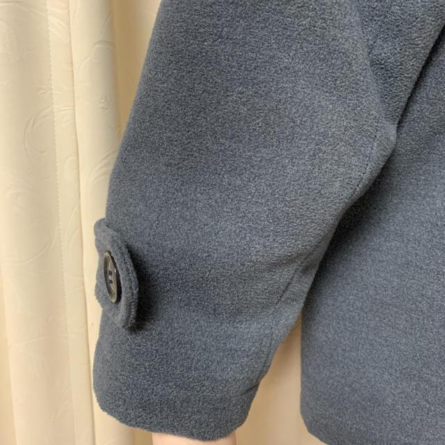 NICE CLAUP(ナイスクラップ)のNICE CLAUP Pコート チャコールグレー ダブルボタンコート レディースのジャケット/アウター(ピーコート)の商品写真