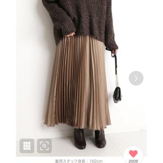 IENA SLOBE - SLOBE IENA  サテンプリーツスカート ベージュ新品未使用タグ付き