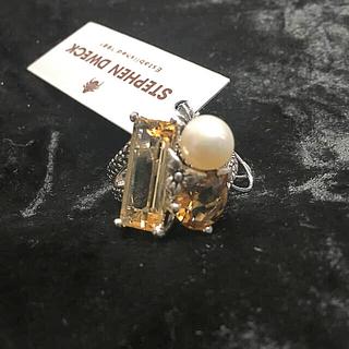 新品 スティーブンデュエック 3ストーンクラスターリング(リング(指輪))
