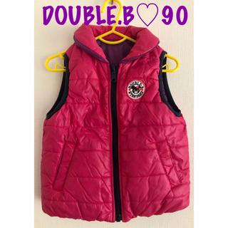 ダブルビー(DOUBLE.B)のDOUBLE.B ダブルビー♡ベスト ダウンジャケット 90(ジャケット/上着)