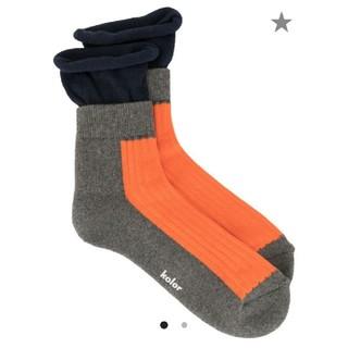 kolor - kolor ブロック 靴下