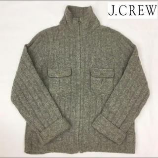 J.Crew - 2.3回使用☆JCREW/ジェイクルー☆ニットジャケット☆メンズSサイズ☆グレー