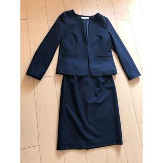ナチュラルビューティーベーシック(NATURAL BEAUTY BASIC)のナチュラルビューティーベーシック    スカートスーツ上下 濃紺 L(スーツ)