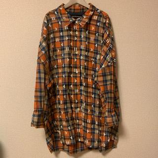 mercibeaucoup - メルシーボークー▲巻き戻し柄ロングシャツジャケット