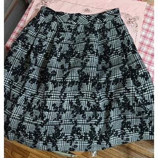 Rope' Picnic - ロペピクニック 千鳥格子 花柄 スカート サイズ38 Rope Picni