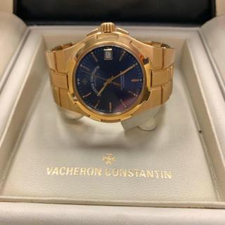 VACHERON CONSTANTIN - 1.2回/逸品 ヴァシュロン K18 YG オーバーシーズ ネイビー 箱/保