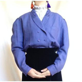 ロキエ(Lochie)の美品 vintage パープル ウール ブラウス(シャツ/ブラウス(長袖/七分))