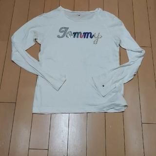 トミーヒルフィガー(TOMMY HILFIGER)のトミーヒルフィガーTommyHILFIGER白×ロゴ長袖Tシャツ160サイズ(Tシャツ(長袖/七分))