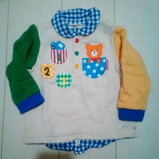 ミキハウス(mikihouse)のトレーナー 襟付き 重ね着風(Tシャツ/カットソー)