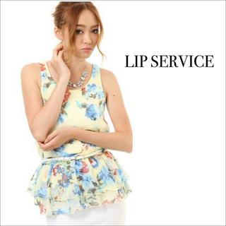 LIP SERVICE - LIP SERVICE  花柄 シフォンフリル トップス チュニック♡リエンダ