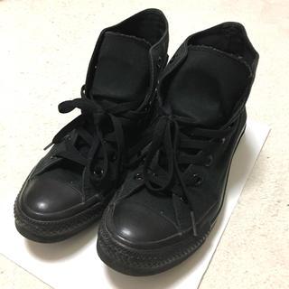 CONVERSE - 【中古品】コンバース ハイカット 黒 ブラック キャンバス地 スニーカー