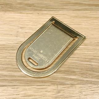 LOUIS VUITTON - 良品 ルイヴィトン マネークリップ ゴールド ロゴ メンズ