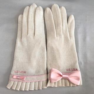 リズリサ(LIZ LISA)の★ LIZ LISA ★ リズリザ 手袋 リボン ピンク ホワイト(手袋)