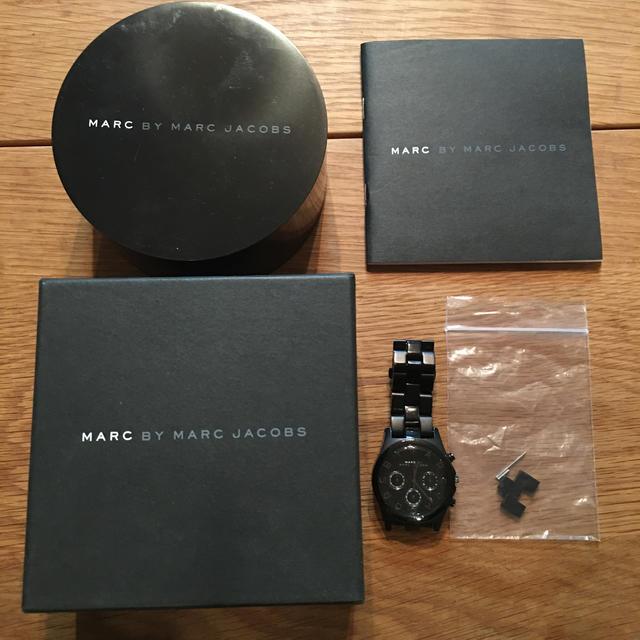 コルム偽物 時計 比較 - MARC BY MARC JACOBS - マークジェイコブス  クロノグラフモデル 保証書付きの通販