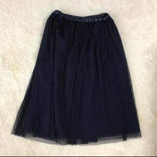 HONEYS - 【未使用・美品】チュールスカート ネイビー Lサイズ
