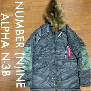 ナンバーナイン(NUMBER (N)INE)のNUMBER (N)INE ALPHA N-3B ジャケット カーキグリーン(ミリタリージャケット)