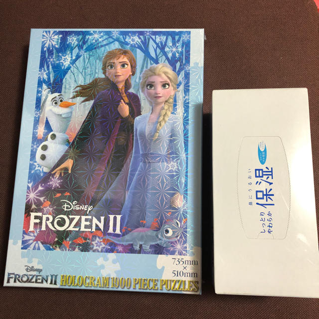 アナと雪の女王(アナトユキノジョオウ)のアナと雪の女王ホログラム1000ピースパズル エンタメ/ホビーのおもちゃ/ぬいぐるみ(キャラクターグッズ)の商品写真