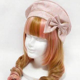 アンジェリックプリティー(Angelic Pretty)のアンジェリックプリティ ホイップジャガードベレー ピンク ベレー帽(ハンチング/ベレー帽)