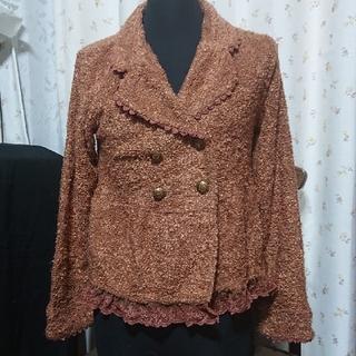 アクシーズファム(axes femme)のジャケット axes femme ブラウン 茶色(テーラードジャケット)