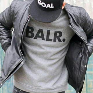 BALR.ボーラークルーネックトレーナースウェット灰色Mサイズ