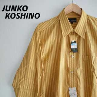 805 タグ付新品 コシノジュンコ マルチストライプ シャツ 個性的 マスタード