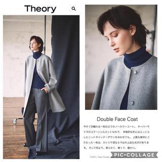 セオリー(theory)の✤2018AW Theory セオリー ダブルフェイス ノーカラコート✤(チェスターコート)