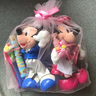 ディズニー(Disney)の結婚式用 電報 MickeyMinnieぬいぐるみセット(その他)