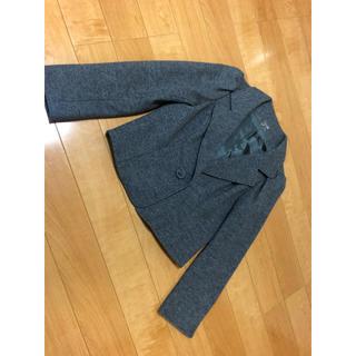 エムズグレイシー(M'S GRACY)のエムズグレイシー ウールコート ジャケット ショート丈 グレー 美品(その他)