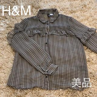 エイチアンドエム(H&M)のシフォン ギンガムチェック シャツ(シャツ/ブラウス(長袖/七分))
