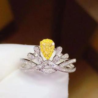 (天使の指輪)天然 イエロー ダイヤモンド リング(リング(指輪))