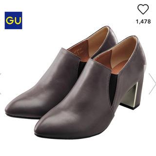 ジーユー(GU)の● 新品 完売 ジーユー gu ブーティ ショート ヒール ブーツ グレー M(ブーティ)