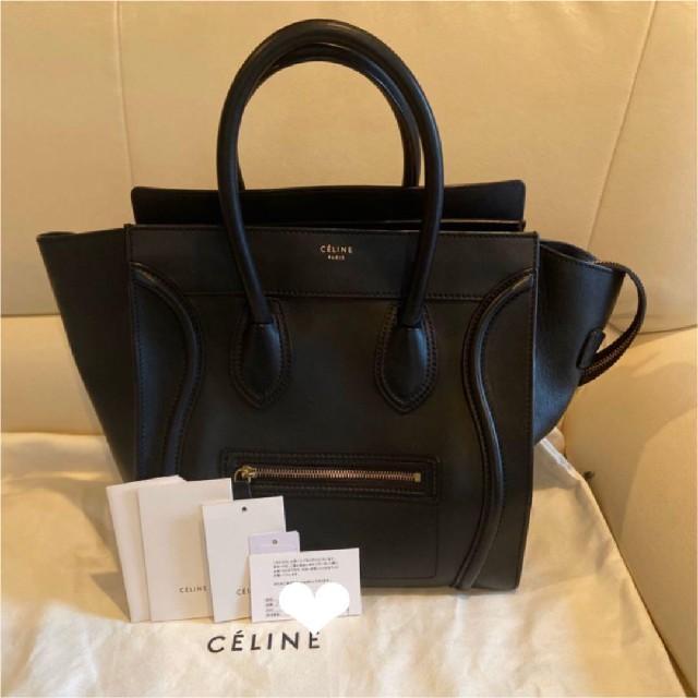 celine(セリーヌ)の美品 セリーヌ ラゲージ ミニ バッグ ハンドバッグ レディースのバッグ(ハンドバッグ)の商品写真