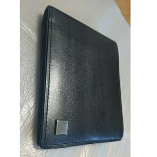 カルバンクライン(Calvin Klein)のカルバンクラインプラティナム 折財布 黒色 本革(折り財布)