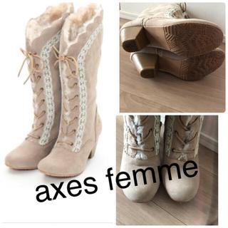 axes femme - ◆アクシーズファム♡大人気2wayファーブーツアンクルージュシャーリーテンプル