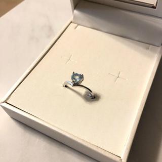 新品 ♡ Misaki キュービックジルコニア ストーン 指輪 リング ブルー(リング(指輪))