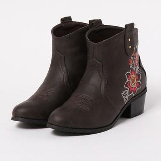 チャイハネ(チャイハネ)のチャイハネ  花刺繍 ウエスタンブ(ブーツ)