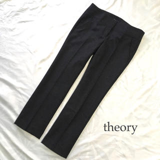 theory - theory ウール クロップドパンツ M グレー