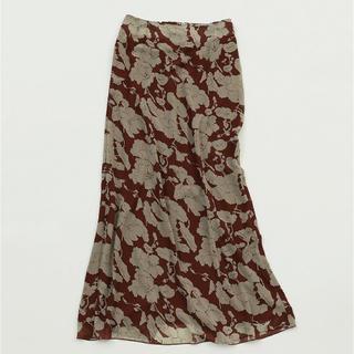 TODAYFUL - TODAYFUL フラワージョーゼットスカート ペンシルスカート ブラウン