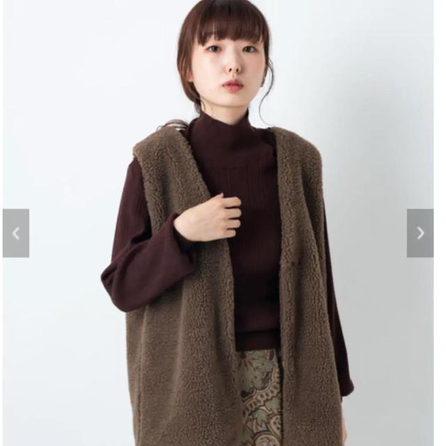 Kastane(カスタネ)の新品 kastane ベストSETパイピングコート ベストのみ レディースのジャケット/アウター(ダウンベスト)の商品写真