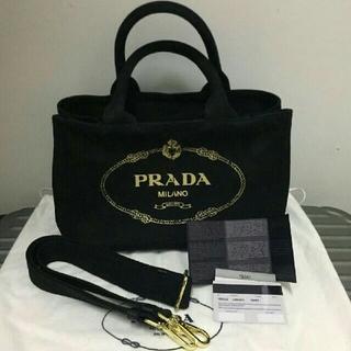 PRADA - PRADA プラダ カナパ ブラック ショルダーバッグ ハンドバッグ