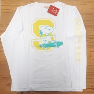 ピーナッツ(PEANUTS)の新品タグ付き 白 スヌーピー ロンT(Tシャツ/カットソー(七分/長袖))