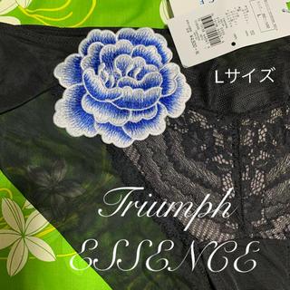 Triumph - Triumph・ESSENCE・ショーツ・Lサイズ・黒・ブルーローズ