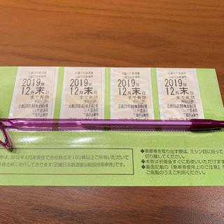 近鉄株主優待乗車券(鉄道乗車券)