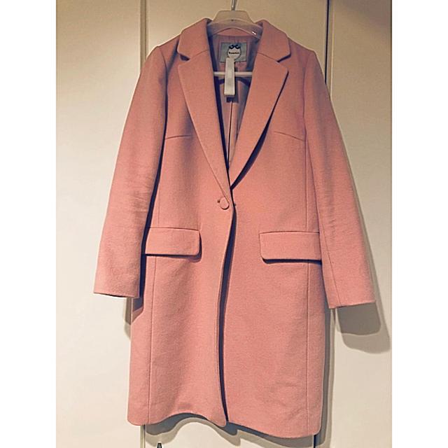 Rirandture(リランドチュール)のリランドチュール チェスターコート袖ファー リリーブラウン レディースのジャケット/アウター(チェスターコート)の商品写真