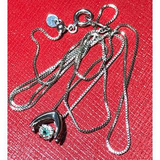 パライバトルマリン ダイヤモンド ネックレス ペンダント k18 wg 18金