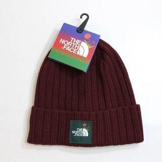 ザノースフェイス(THE NORTH FACE)のノースフェイス ノードストローム ニット帽 ボックスロゴ 茶 180625(ニット帽/ビーニー)
