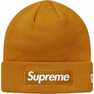 Supreme - 【新品】supreme ボックスロゴ ニット帽 カーキ ビーニー cap