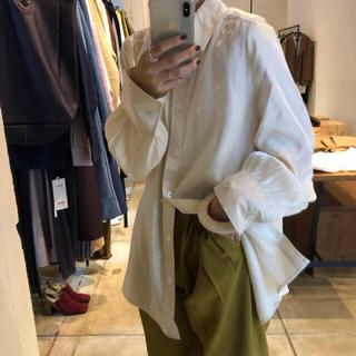 TODAYFUL - aere サテンギャザーオーバーシャツ