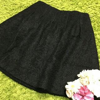 M'S GRACY - 美品エムズグレイシー レディフレアスカート黒 カタログ掲載品