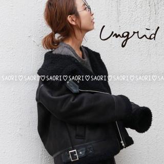 Ungrid - ungrid【未使用】フェイクムートンボリュームコート★TODAYFUL